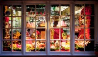 Pretty Christmas Storefronts