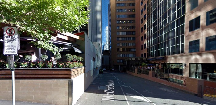 mccrackens lane melbourne sign