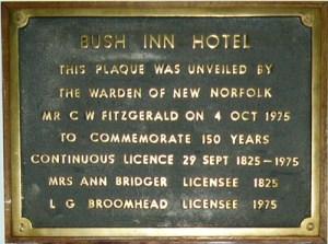 A plaque claiming the pub is Australia's oldest