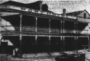 The Port Hotel, one of South A ustralia's oldest inns, which was torn down to make way for Harbors Board improvements.