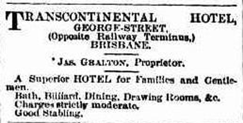 An 1884 newspaper advertisement for the hotel