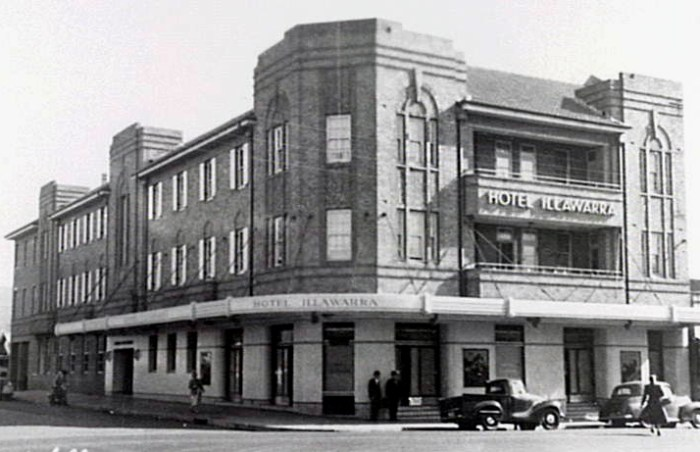 The Illawarra Hotel in 1950
