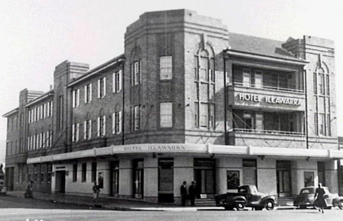 The Illawarra Hotel in 1950