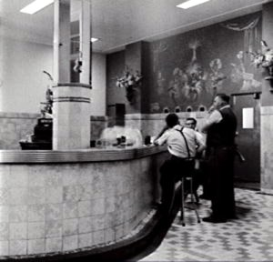 The bar of the Burlington Hotel in the 1950s
