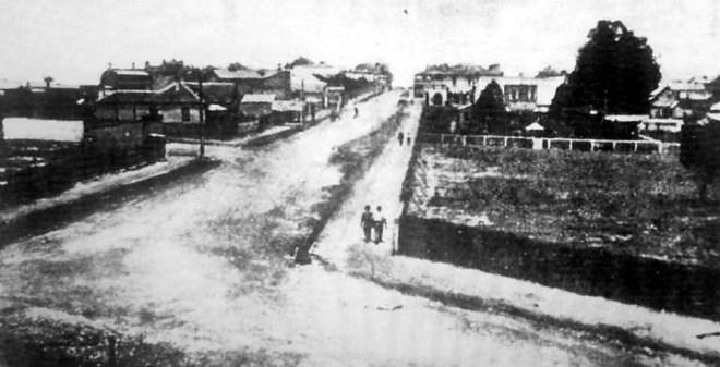 Auburn Road, from the railway bridge.