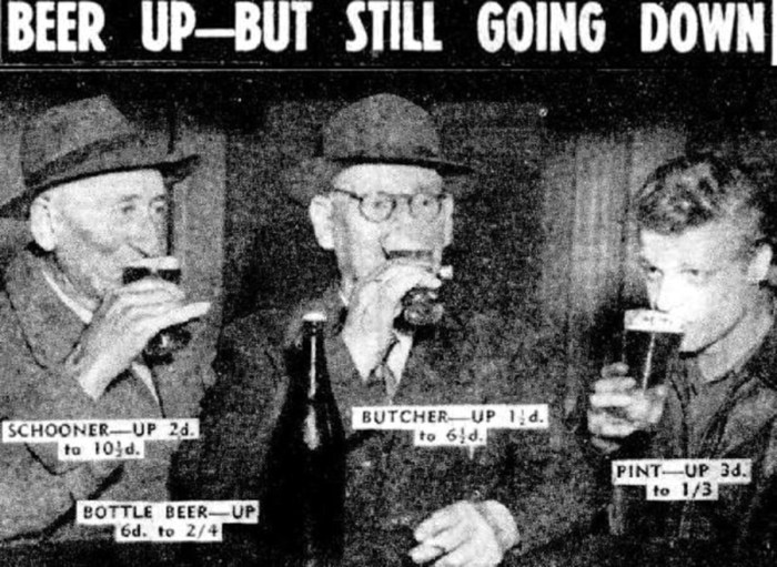 beer glasses 1951