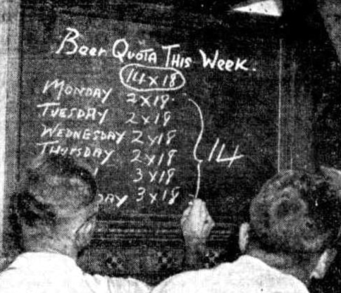 beer quotas 1946 sydney pub