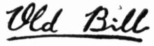 old bill signature