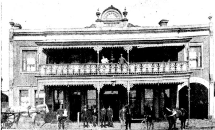 Murdochs Hotel Morwell Victoria 1897