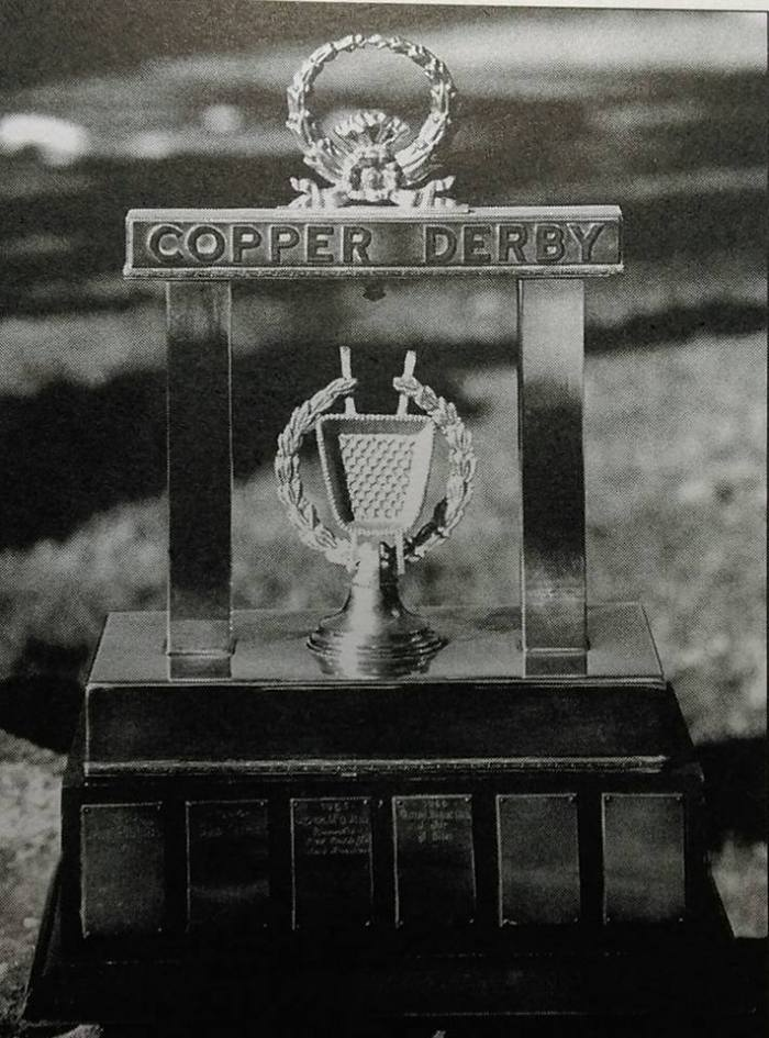 copper derby trophy