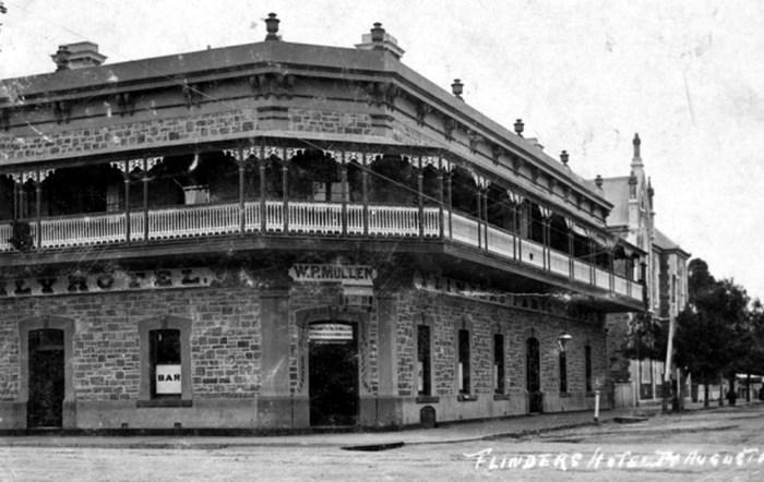 flinders hotel port august c1910