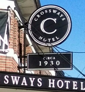 crossways hotel enmore 2016 sign