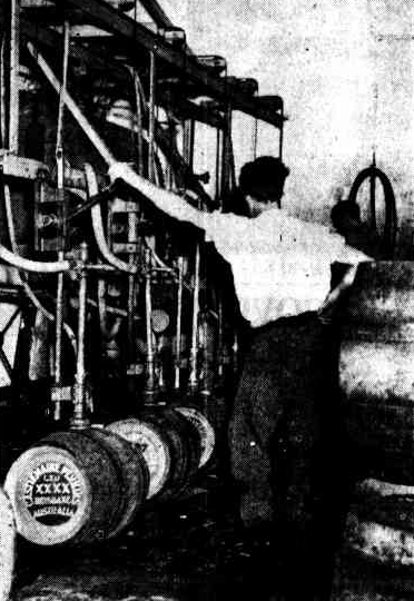 filling beer casks 1937