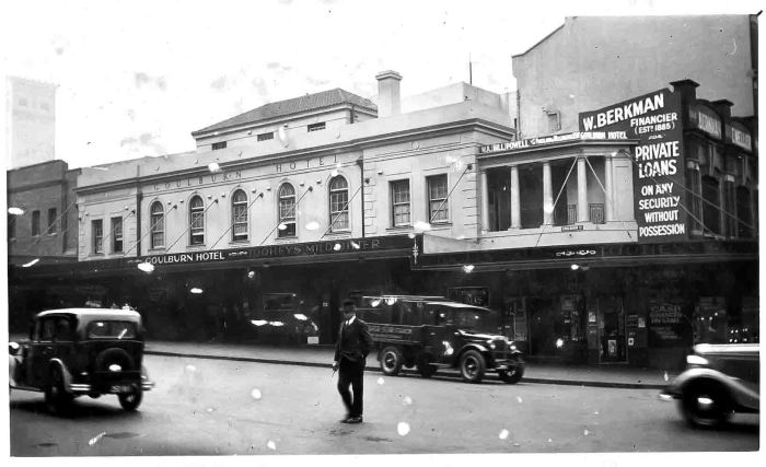 Goulburn Hotel George and Goulburn Streets 1936 ANU small