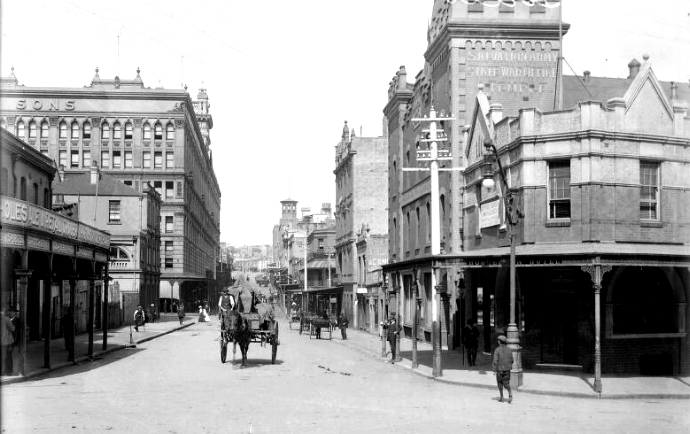 goulburn street looking east 1911