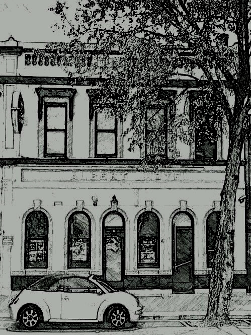 albert hotel bendigo drawing