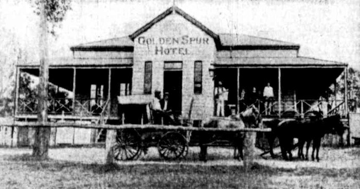 Golden Spur Hotel Baree Qld 1880s