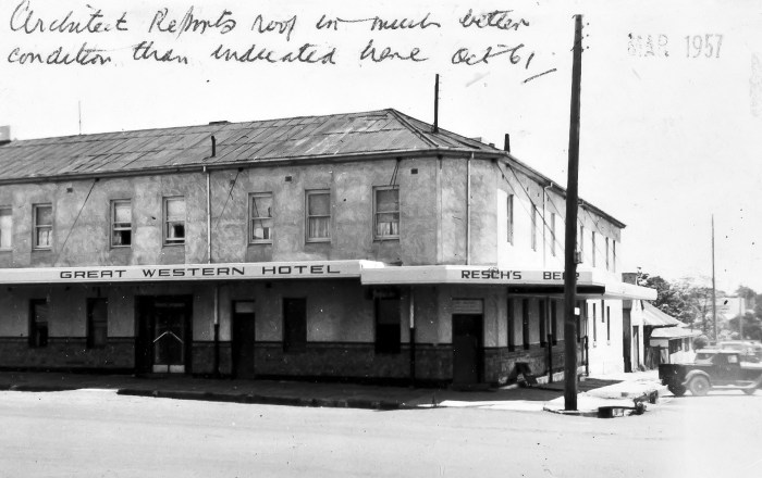 Great Western Hotel Orange 1957 anu