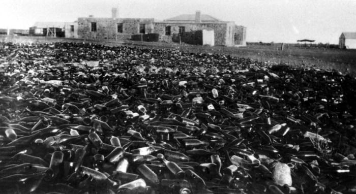 Innamincka bottle heaps c1930