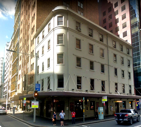occidental hotel yourk street sydney google streeview