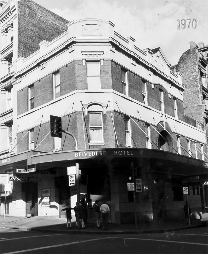 Belvedere Hotel Sydney 1970 ANU