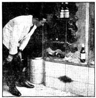 pub window smashed wynyard sydney 1947