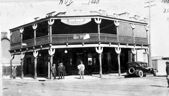 Waterworks Hotel Botany August 1930 ANU