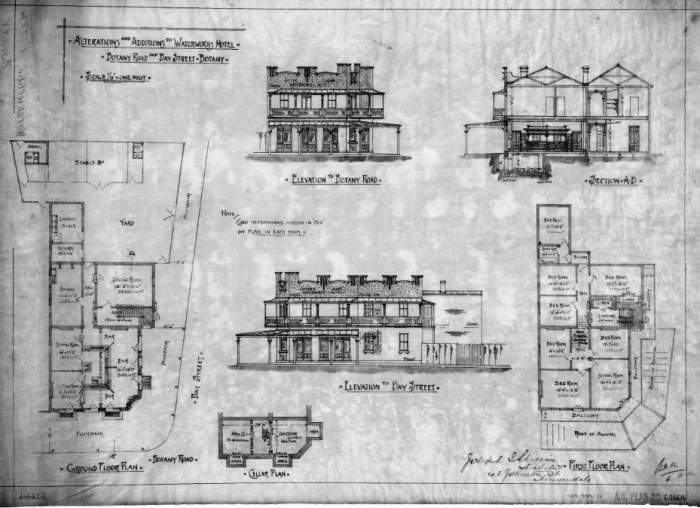 Waterworks Hotel Plan BW 1919