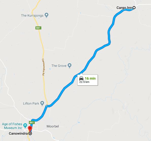 cargo canowindra map