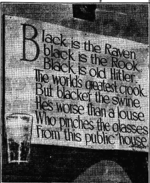 london tavern redfern 1945 sign