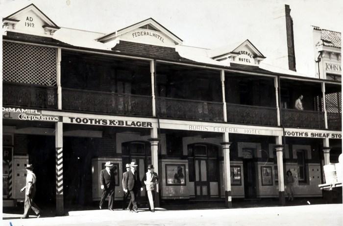 Federal Hotel Temora 1949 anu