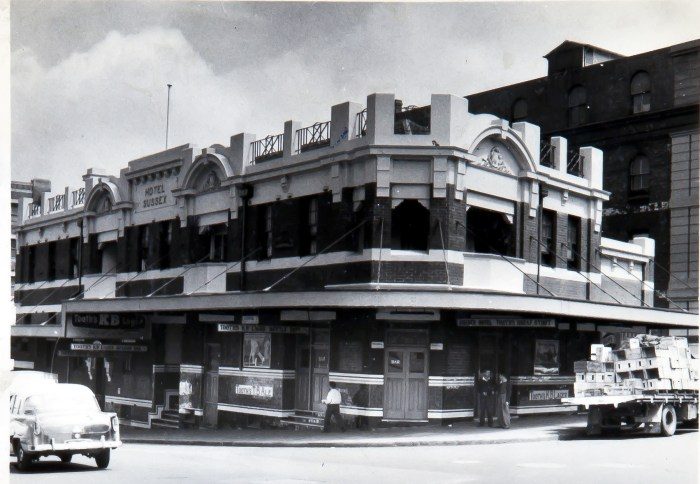 Sussex Hotel Sydney 1960 anu