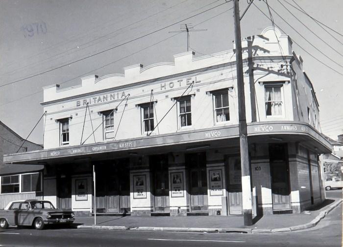 Britannia Hotel Redfern 1970 anu