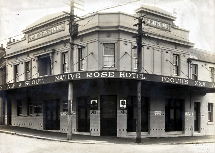 Native Rose Hotel Darlington Sydney 1924 ANU