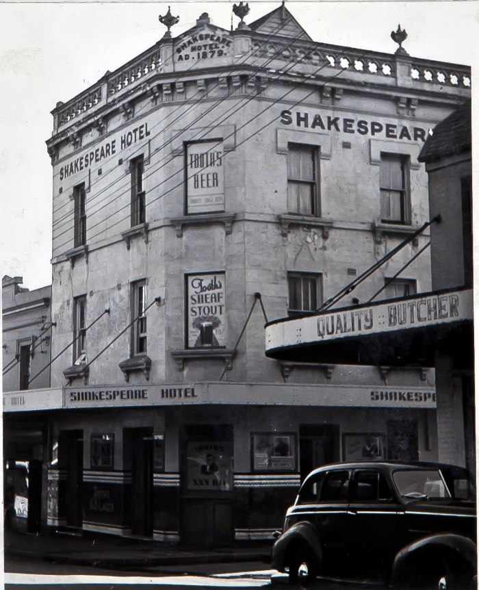Shakespeare Hotel Surry Hills 1949 ANU