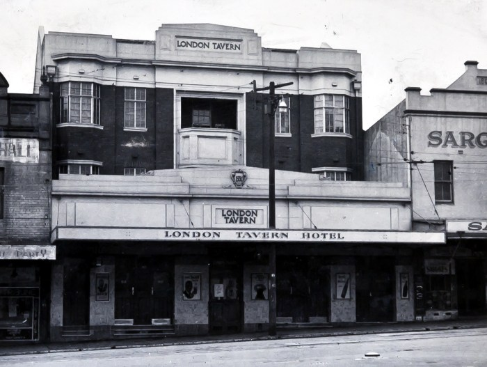 London Tavern Redfern 1949 anu