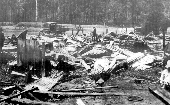 kinglake hotel ruins after fire 1926