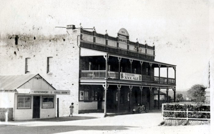 Royal Hotel Wallerawang 1949 anu