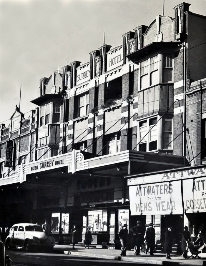 Royal Surrey Hotel Bondi 1949 ANU