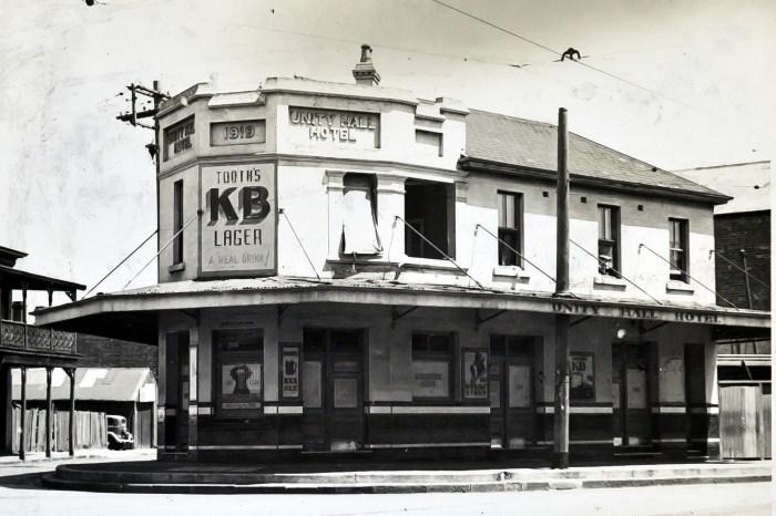 Unity Hall Hotel Balmain 1949 anu