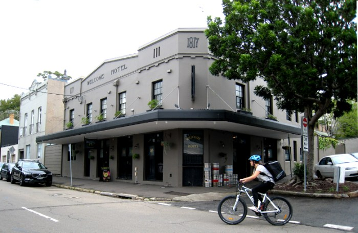 welcome hotel rozelle bike