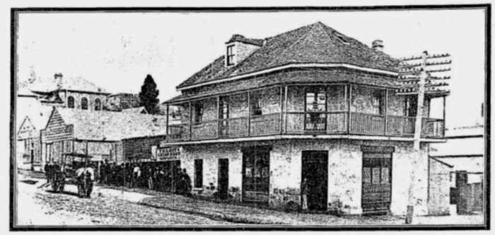 Dunmore Arms Hotel corner George and Elizabeth STreets Sydney