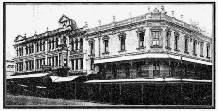 treasury hotel corner of george and elizabeth street sydney 1923