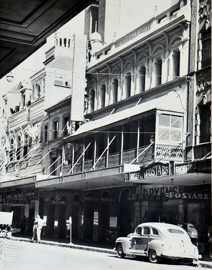 Adams Hotel PItt St Sydney 1949 ANU