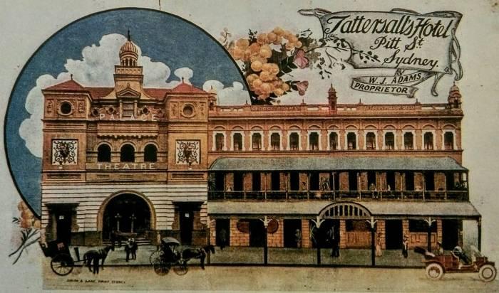adams hotel postcard