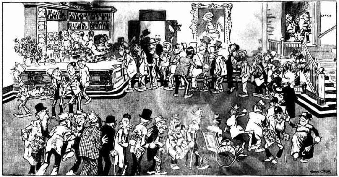 last barmaid cartoon 1928