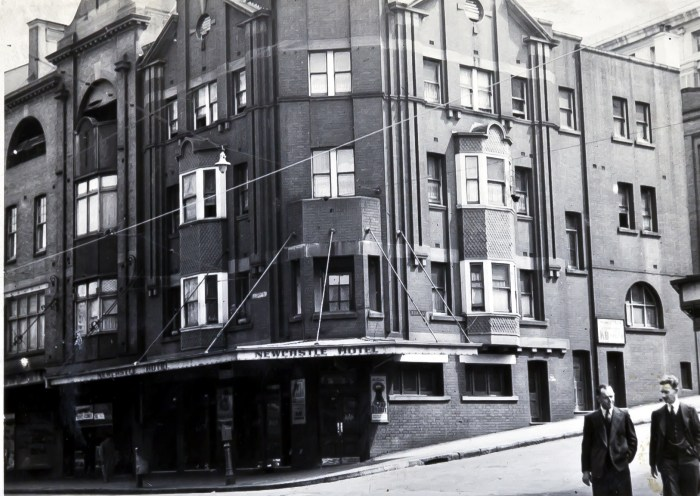 Newcastle Hotel essex and george streets sydney 1949 anu