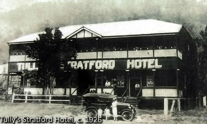 Barron River Hotel Stratford Qld 1926 Tullys Stratford Hotel TG W