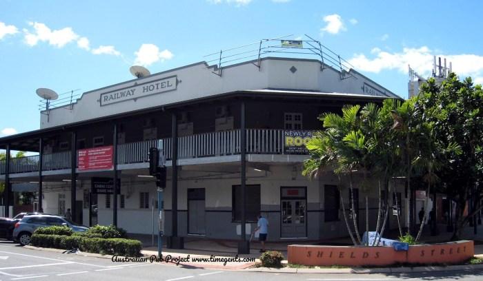Railway Hotel Cairns Former TG B W 1