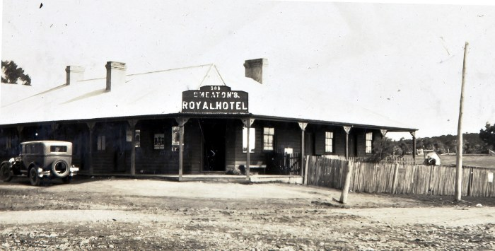 Royal Hotel Burraga NSW 1920 ANU